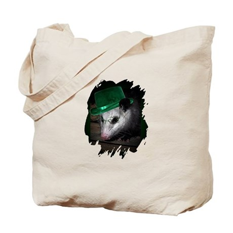 St. Patrick's Day Possum Tote Bag