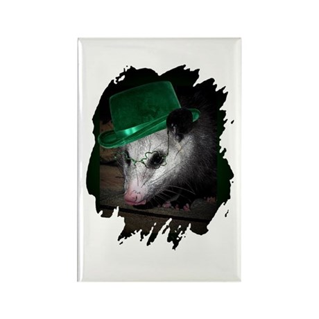 St. Patrick's Day Possum Rectangle Magnet