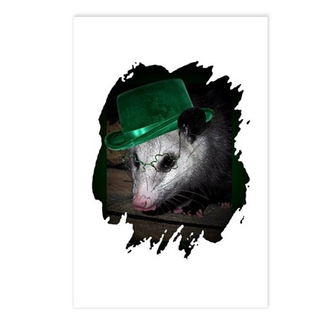 St. Patrick's Day Possum Postcards (Package of 8)