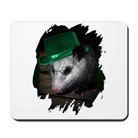 St. Patrick's Day Possum Mousepad