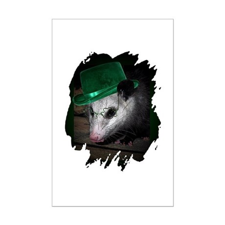 St. Patrick's Day Possum Mini Poster Print
