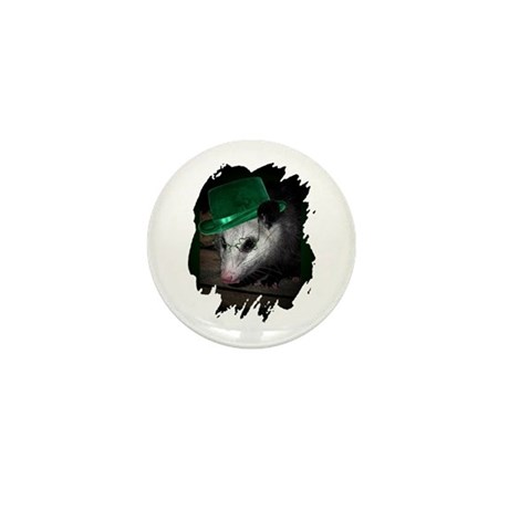 St. Patrick's Day Possum Mini Button (100 pack)