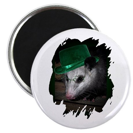 "St. Patrick's Day Possum 2.25"" Magnet (100 pack)"