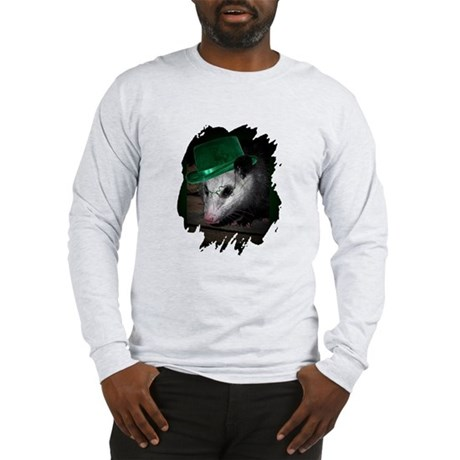 St. Patrick's Day Possum Long Sleeve T-Shirt