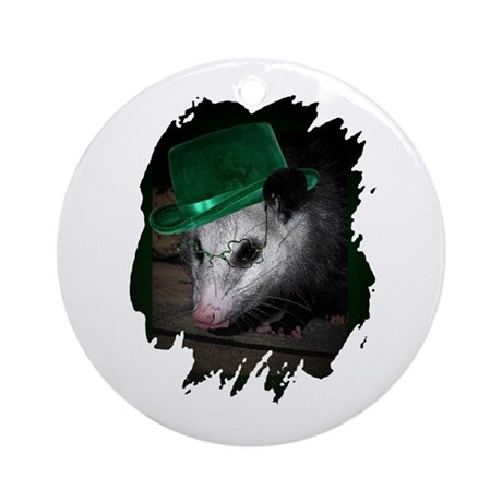 St. Patrick's Day Possum Ornament (Round)