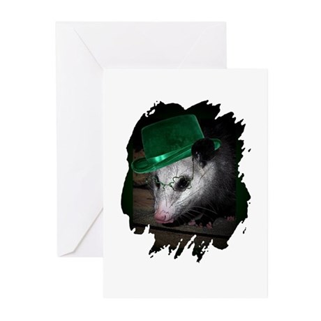 St. Patrick's Day Possum Greeting Cards (Package o