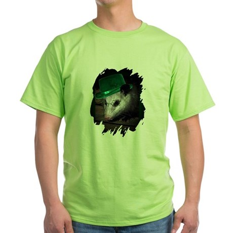 St. Patrick's Day Possum Green T-Shirt