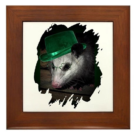 St. Patrick's Day Possum Framed Tile
