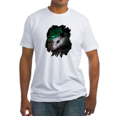 St. Patrick's Day Possum Fitted T-Shirt