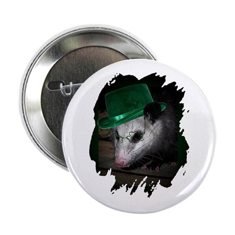 "St. Patrick's Day Possum 2.25"" Button (100 pack)"