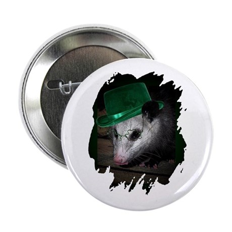 St. Patrick's Day Possum Button