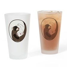 Yen-Yang Ferrets Drinking Glass
