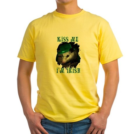 Kiss Me Possum Yellow T-Shirt
