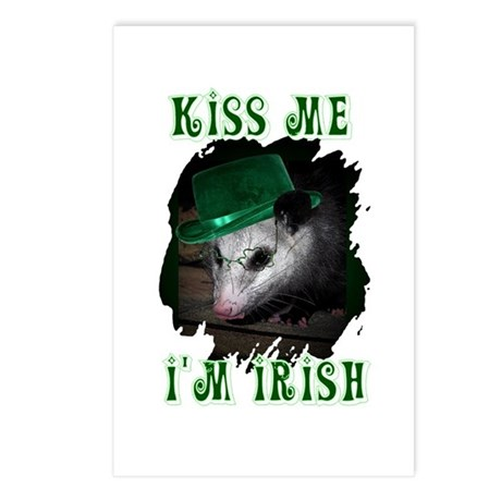 Kiss Me Possum Postcards (Package of 8)