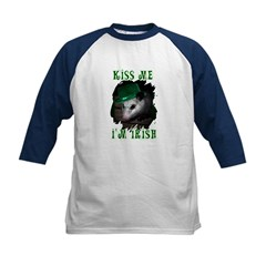 Kiss Me Possum Kids Baseball Jersey