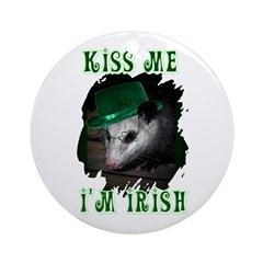 Kiss Me Possum Ornament (Round)