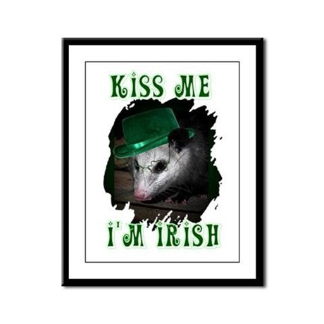 Kiss Me Possum Framed Panel Print