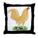 Buff OE Cock Throw Pillow