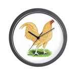 Buff OE Cock Wall Clock
