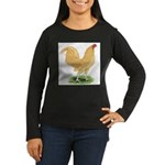 Buff OE Cock Women's Long Sleeve Dark T-Shirt