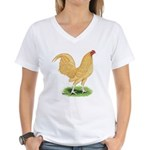 Buff OE Cock Women's V-Neck T-Shirt