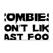 zombiesFastFood1A Rectangle Car Magnet