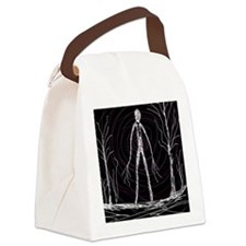 spooky thin man Canvas Lunch Bag