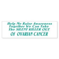 Ovarian Cancer Awareness Bumper Car Sticker