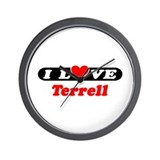 I Love Terrell Wall Clock
