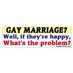 Gay Marriage Problem Bumper Sticker