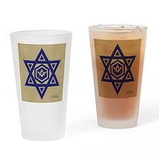 Masonic Star of David Drinking Glass