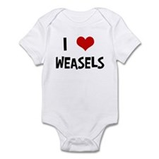 I Love Weasels Infant Bodysuit