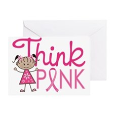 Ethnic Think Pink Greeting Card