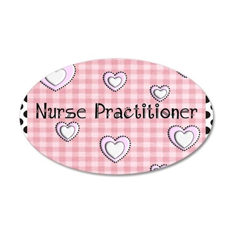Nurse practitioner blanket H 35x21 Oval Wall Decal