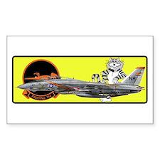 F-14 Tomcat VF-114 Aardvarks Rectangle Decal
