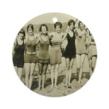 Vintage Bathing Beauties Round Ornament