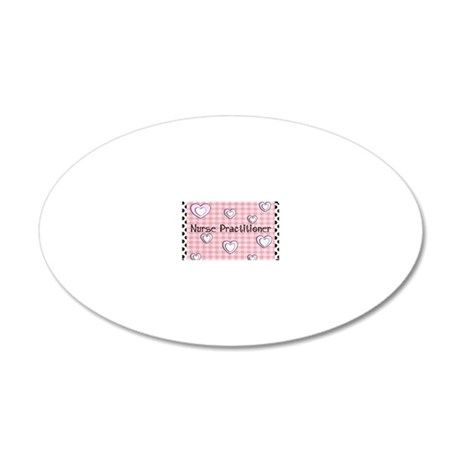 Nurse practitioner blanket H 20x12 Oval Wall Decal
