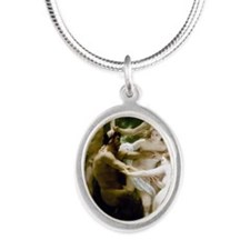 William-Adolphe Bouguereau Ny Silver Oval Necklace