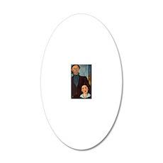 postcard_lipchitz 20x12 Oval Wall Decal