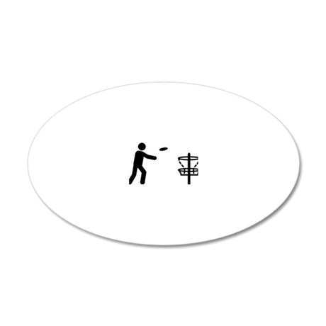 Disk-Golf-A 20x12 Oval Wall Decal