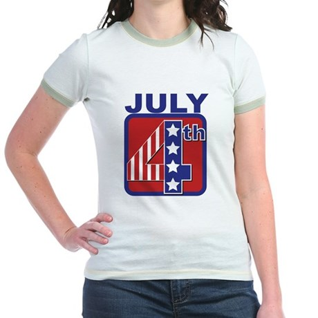 July 4th Jr. Ringer T-Shirt