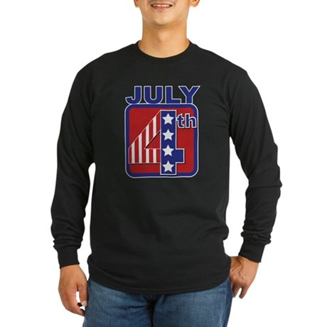 July 4th Long Sleeve Dark T-Shirt