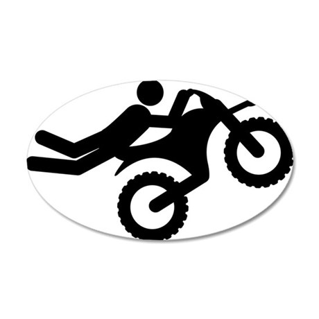 Motocross-A 35x21 Oval Wall Decal