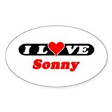 I Love Sonny Oval Decal