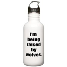 Im Being Raised by Wol Water Bottle