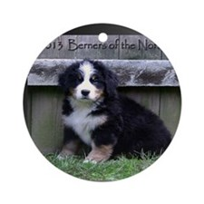 Bernese Mountain Dog 2013 Calendar Round Ornament