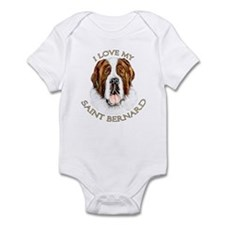 I Love My St Bernard Infant Bodysuit