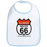 Illinois Route 66 Baby Bib