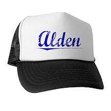 Alden, Blue, Aged Trucker Hat