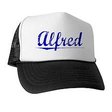 Alfred, Blue, Aged Trucker Hat